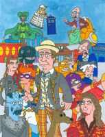 Doctor Who/ Futurama Seventh Doctor (With Color) by iamtherealbender