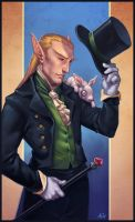 Illusionist and his Familiar by ChateNoire