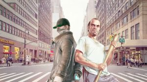 Aiden Pearce and Trevor Phillips (W_D and GTA 5) by AidenFirePearce