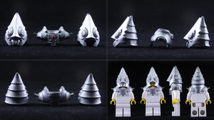 LEGO 3D Printed Painted Zant Headpiece by mingles