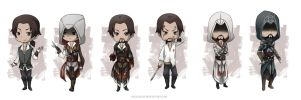 AC: Evolution of Ezio -Chibi- by Angels-Leaf