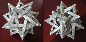 Intersecting Dollar Tetrahedron [Tom Hull] by Cahoonas