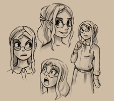 Character Face Doodles by Chicken--Scratch