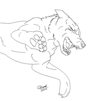 Ginga - G. Shepherd Lineart by Demonic-Pokeyfruit
