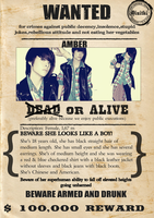 fx Amber Wanted Poster by xxmoshi-moshi