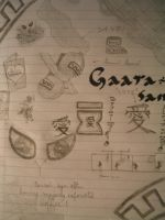 A page of Gaara Style doodles by kazekage786