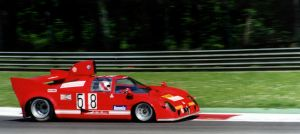 Alfa T33 Hot into Ascari at Monza by PzlWksMedia