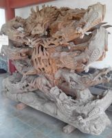 extreme wood carving- Qingxiushan dragons by psymonster1974