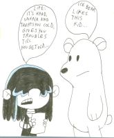 Ice Bear Meets Lucy by SithVampireMaster27