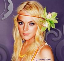 Lindsay Lohan Retouch by GreenSlOw