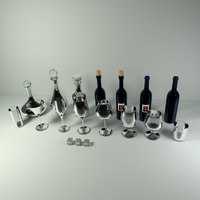 RR Wine and Bar Glasses by SavannaW