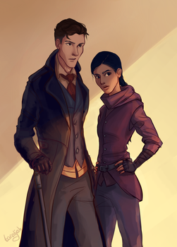 Kaz and Inej by taratjah