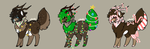 Chritstmas Antler Critter Auctions by Batzy-Adopts