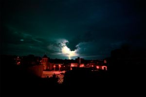 Storm Clouds and Lightning by Subsonicboom