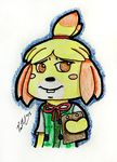 Smug Like A Bug Isabelle From Animal Crossing by chelano