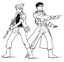 fma fanart - roy and riza by astridv