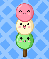 Cute Food- Dango by PPGxRRB-FAN