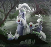 Goodra's Family by OwlVortex