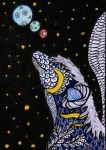 Zentangle full moons by Anbeads