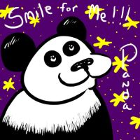 Smile for Me Panda by TheFlyinFerret