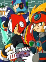 X, Zero, and Axl by ZeroMidnight