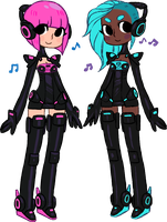 robot girls by 8bitto