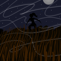 Chell Running in the Night by Taryndedoo
