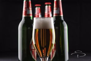Beer Glass and Bottle by rocneasta