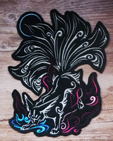 SOLD - Nine-tailed fox embroidery by goiku