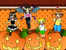Happy Pkmn Bw Halloween 2012 by AkirasArtWorld