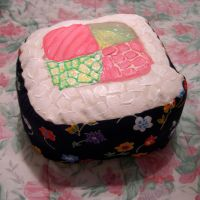 Sushi Pillow with Flowers by zhuli