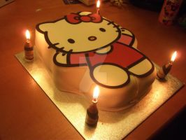 My hello kitty cake by trixy-bernadotte
