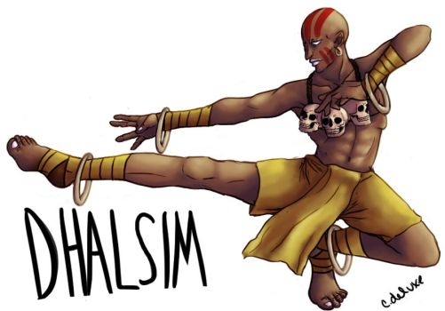 STREET FIGHTER - DHALSIM by cdeluxe