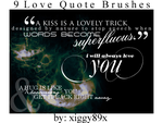 Love Quote Brushes by xiggy01x