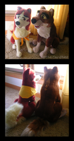 Balto And Jenna Plush Set by The-Toy-Chest