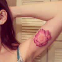 My second tattoo- Lotus flower by Miciaila