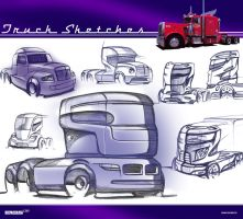 Truck Sketches by Samirs