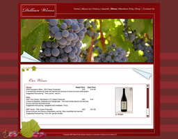Wines page for Dillian Wines by DonelleJenae