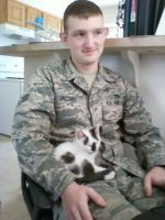 my husband and our kitten by xCountingBodiesx