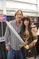 Me meeting Kevin Sorbo as Xena by BrassIvyDesign