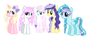 mlp oc's The Main 5 by SugarMoonPonyArtist