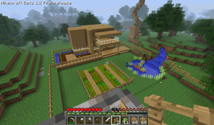 Screenshot of my first time playing Minecraft by BB02