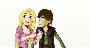 Hiccup y Rapunzel step 2 by Mitsukichan17
