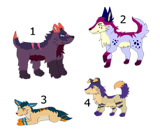 Canine Adoptables CLOSED by LizzysAdopts