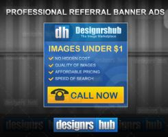 Free Professional Referral Banner Ads Template PSD by MGraphicDesign