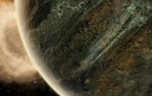 Cracked Rock Planet by EricHowell