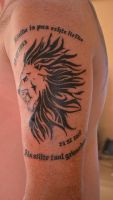 Lion's Head Tattooed by CrYpToZ