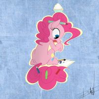 Pinkie Pie is writing an article! by Eat-At-Eriks