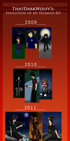 Evolution of my Hoomans! 8D by ThatDarkWolfy