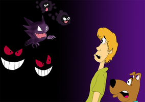 Scooby Doo against Ghost pkmn by ZeFrenchM
